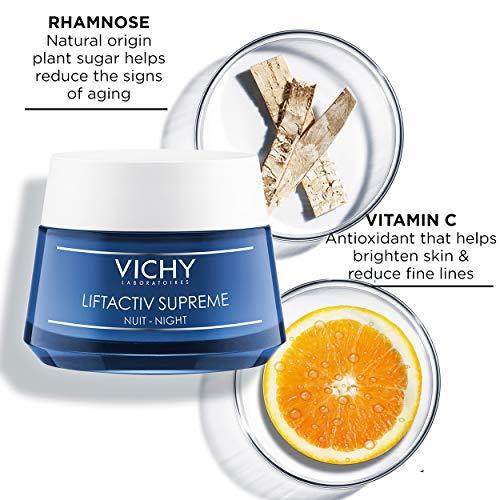 51u3ZrLgTRL - Vichy LiftActiv Supreme Night Cream, Anti Aging Face Cream with Vitamin C & Rhamnose to Firm & Brighten, Suitable for Sensitive Skin