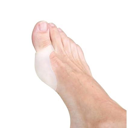 LEORX Pies separadores Gel suave del dedo del pie alisadores alineación juanete alivio del dolor (