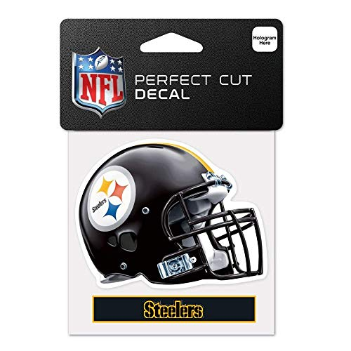 Bek Brands Licensed Professional Football Teams 4 x 5 Cling Decal for Cars, Windows and More, Helmet (Pittsburgh Steelers)