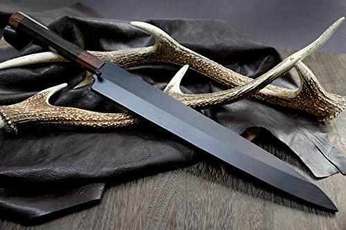 Yoshihiro Hongasumi VG Stainless Steel Yanagi Sushi Sashimi Japanese Knife with Nuri Saya Cover ( 13 IN) by Yoshihiro (Image #4)
