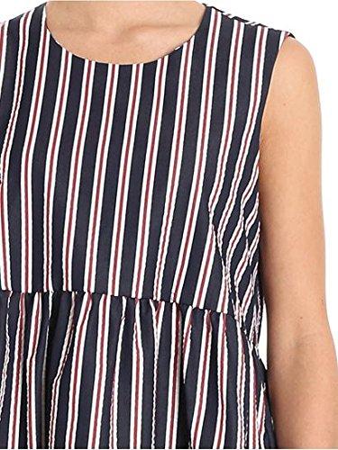 P.A.R.O.S.H. Vestito Donna COPPIAD730390809 Cotone Blu/Bordeaux