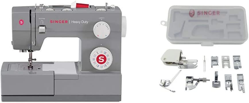 SINGER | Heavy Duty 4432 Sewing Machine with 110 Stitch Applications, & Accessory Kit - Sewing Made Easy