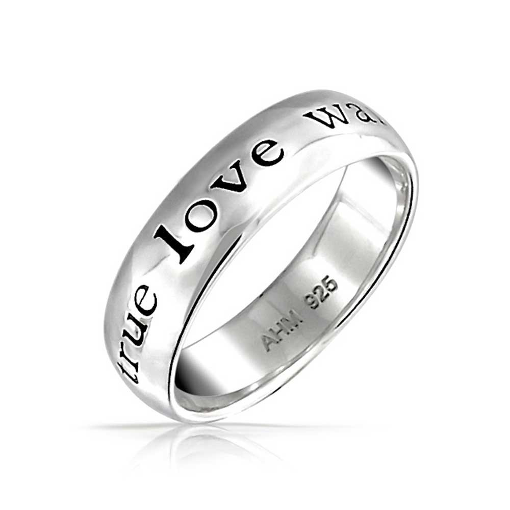 True Love Waits Sterling Silver Purity Ring with Engraving by Bling Jewelry (Image #1)