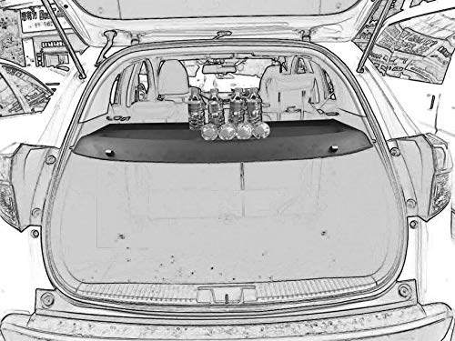Cargo cover Compatible with 2016 2017 2018 Honda HR-V HRV Black Rear Trunk Sheld by Kaungka (Can withstand the load) (Best Duck Loads 2019)