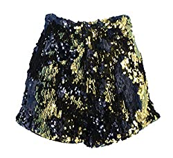 Black/Gold Sequins Short