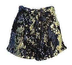 Black/Gold Sequins Short