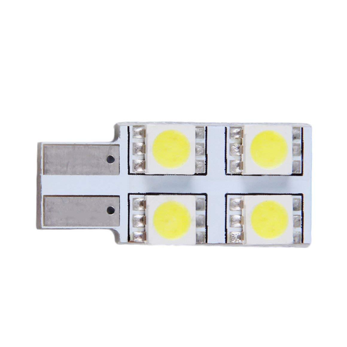 Funnyrunstore T10 5050-4SMD 4 LEDs Car Canbus Interior Panel LED Dome Light Lamp Bulb 12V