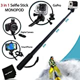 Xtech Extendable Handheld Monopod Pole for GoPro HERO4, GoPro HERO3, GoPro Hero3+, and All GoPro HERO Cameras