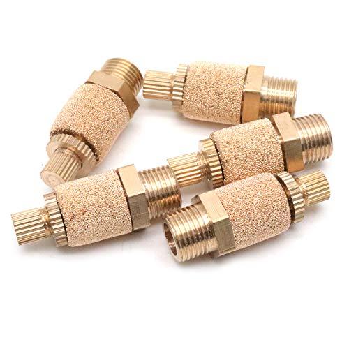 Yootop 5Pcs 1/8PT Thread Pneumatic Muffler Exhaust Silencer Filter Brass Muffler Fittings
