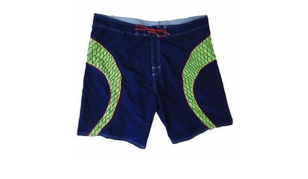 7605fefb1e No Boundaries Mens Navy/Green Reptile Scales Swim Trunks Board Shorts 44 |  Amazon.com