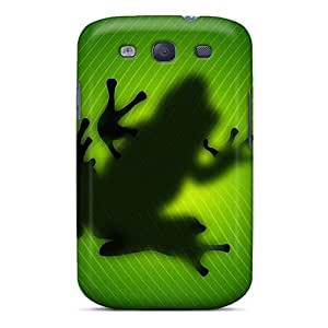 LJF phone case Galaxy Case - Tpu Case Protective For Galaxy S3- Under Frog