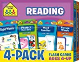 School Zone - Reading Flash Card 4-Pack - Ages 4 and Up, Short and Long Vowel Sounds, Combination Sounds, Rhyming, and More