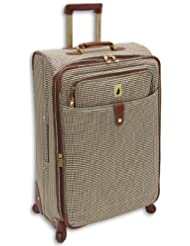London Fog Luggage Chelsea 29 Inch 360 Expandable Upright Suiter, Olive Plaid, One Size