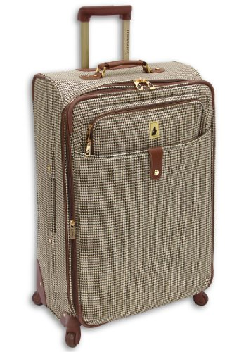 london-fog-luggage-chelsea-29-inch-360-expandable-upright-suiter-olive-plaid-one-size