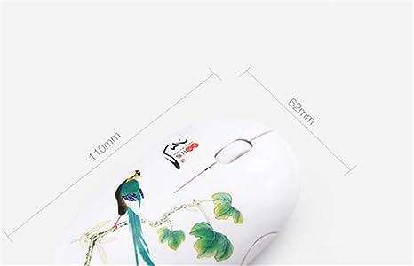 HD teatrales chino tradicional pintura inalámbrico ordenador portátil PC Mouse Ratón para viajes de negocios Oficina