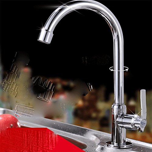 AWXJX Sink Taps Single handle copper chrome Single hole Single cold kitchen Seated Basin by AWXJX Sink faucet
