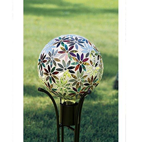 Carson, Multi Flowers 10'' Gazing Ball by Carson
