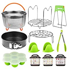 The best accessories set compatible with your instant pot accessories 6,8 quart pressure cooker, cultivate a healthy lifestyle in an easy, quick and healthy way! -  -Make egg bites, poacher ring, brownies, popsicles, baby food, yogurt with eg...
