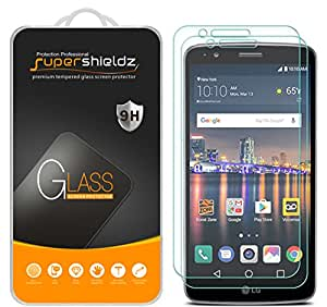 [2-Pack] Supershieldz for LG Stylo 3 Tempered Glass Screen Protector, Anti-Scratch, Anti-Fingerprint, Bubble Free, Lifetime Replacement Warranty