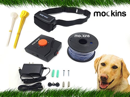 mockins Underground Electric Dog Fencing System, Safe For Pets | Multiple Dog Operation with 1 Rechargeable Collar, Easy Installation, Fully Customizable –– Covers Over 50,000 Square Feet … … … … by mockins
