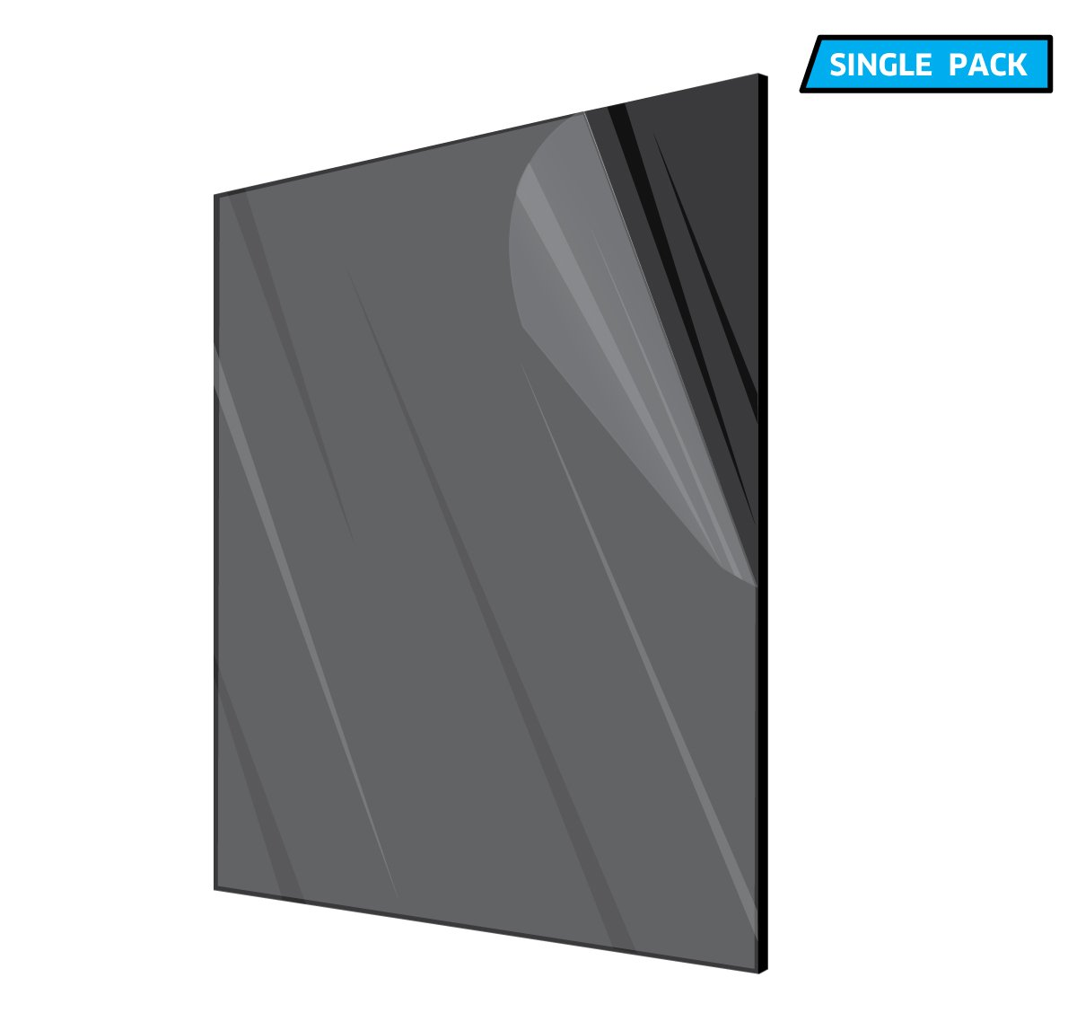 Durable Black Multipurpose /& Ideal For Countless Uses 12/'/'x12/'/' 1//8 thick Water Resistant /& Weatherproof AdirOffice Acrylic Plexiglass Sheet