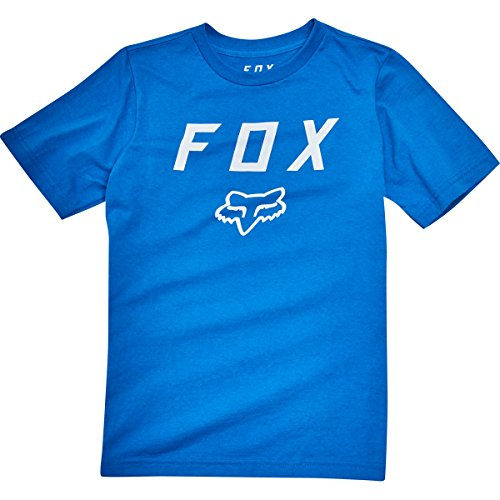 Fox Racing Boys Legacy Moth Short-Sleeve Shirts Large Blue (Racing Fox Clothing Kids Casual)