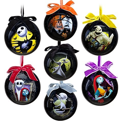 Amazon Com Tim Burton S The Nightmare Before Christmas Ornament Set 7 Pc Set 2011 Disney Item No 6434046651953p Home Kitchen