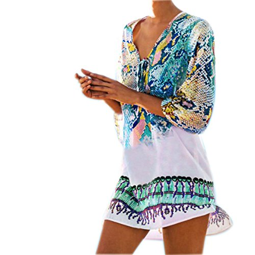 mango 70s wrap dress - 8