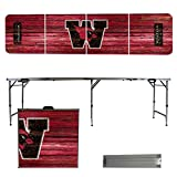 NCAA Wesleyan University Cardinals Weathered Version Folding Tailgate Table, 8'