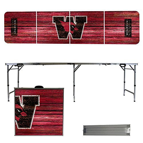 NCAA Wesleyan University Cardinals Weathered Version Folding Tailgate Table, 8' by Victory Tailgate