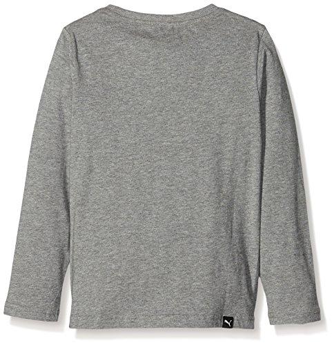 Puma Sport - Maglietta a maniche lunghe da ragazzo, Ragazzo, Jr Sport Ls Tee.mgh, Grigio erica medio, 12 anni (FR: 152)