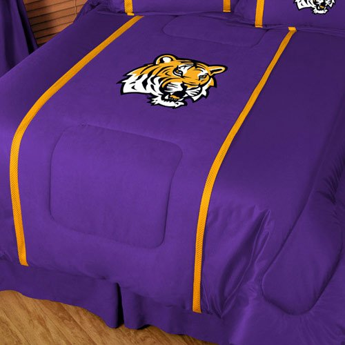 NCAA Louisiana State Fightin Tigers MVP Comforter (Mvp Microsuede Comforter)