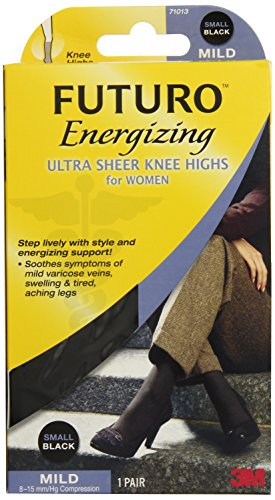 Futuro Futuro Knee Highs for Women, Small, Black