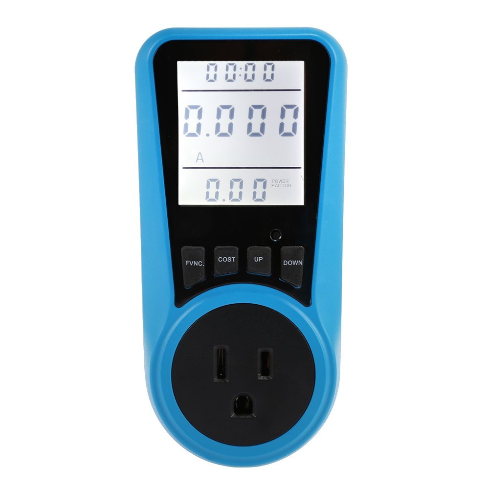 Household Power Meter Backlight Measuring Outlet Socket Electricity Usage Monitor (US Plug)