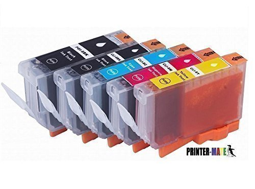 Canon Edible Ink 5 Pack Canon PGI-270XL PGI 270 CLI-271XL CLI 271 (1 Large BK, 1 Photo BK, 1 C, 1 M, 1 Y) Compatible with Canon MG6820 MG6821 MG6822 MG5720 MG5722 MG5721 CAKE PRINTING Printer-Mate TM