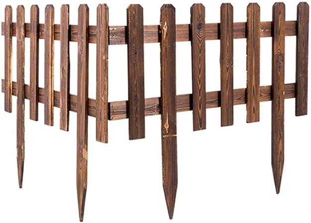 leegoal - Valla de Madera para jardín, Valla Ornamental para Valla y delimitación de parterres y Caminos, cercado bajo y Valla Ornamental, estaca, Ampliable (62 x 35 cm): Amazon.es: Hogar