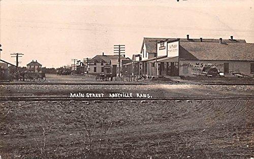 Main Street Abbyville, Kansas postcard