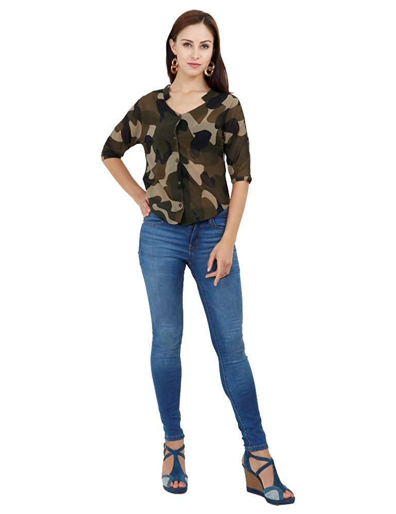 4ec092e5 GLITTHREADS Women's Beautiful Georgette Shirt: Amazon.in: Clothing &  Accessories