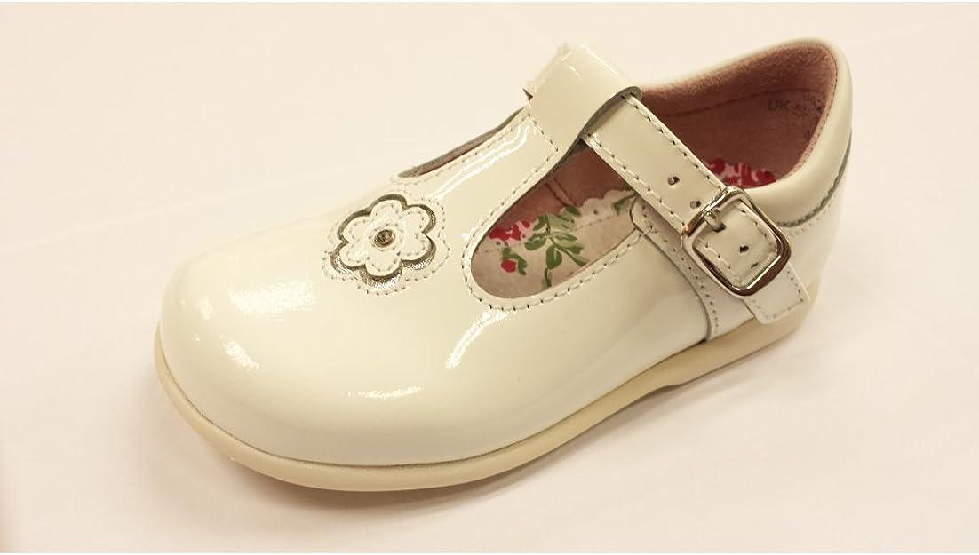 White Patent First Walking Shoe