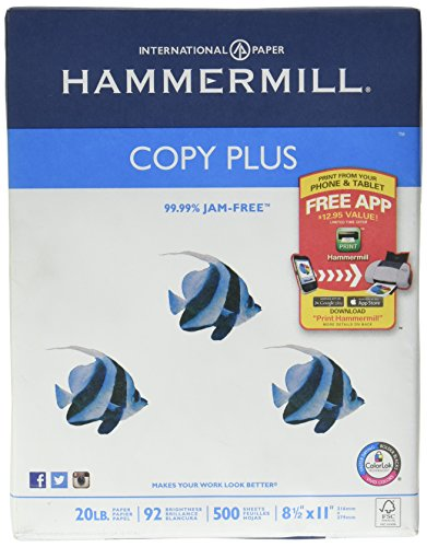 hammermill copy plus paper We have the amazing $001 paper deal again this week at staples remember: if you don't need it, consider donating it to a teacher, community center, or church hammermill copy plus paper, ream: $829.