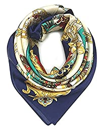 Silk Like Scarf for Women Fashion Pashmina Lightweight Headscarf for Head and Neck. Warm like cashmere. Velvet beautiful. – By : Joolerys Products (Blue2)
