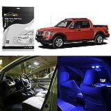 Partsam 2002-2010 Ford Explorer Blue Interior LED Light Package Kit, Pack of 8