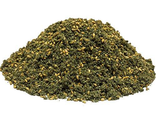 bonballoon Zatar Za'atar Zater Za'atr Green Traditional Thyme Home Made Organic With Sesame Seed Dry Oregano Leaves Arabian Spice Blend زعتر أخضر (400gm) - Spice Dip