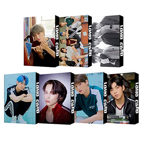 7 Pack/210 Pcs TXT Lomo Card KPOP TXT MAGIC Photocards Greeting Card with Postcards Box