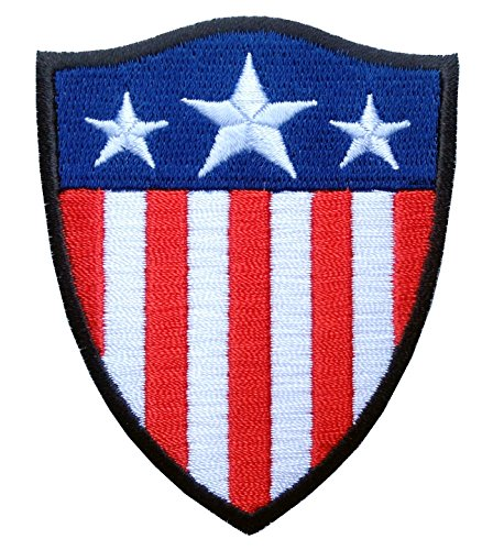 Hook Shield Shape Captain America US Flag Milspec Tactical G