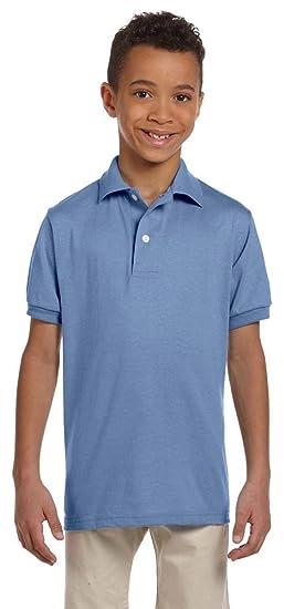 38067206 Amazon.com: Jerzees Youth 5.6 oz., 50/50 Jersey Polo with SpotShield ...
