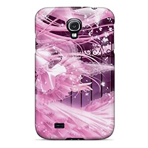 First-class Case Cover For Galaxy S4 Dual Protection Cover Pink Anime Girl