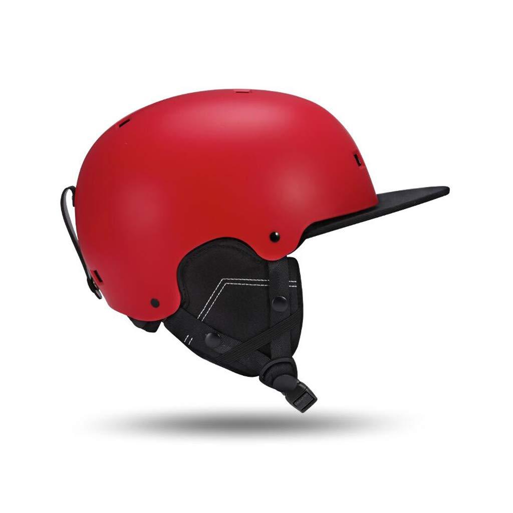 ヘルメットスキー&スノーボード用ヘルメット、スキー用保護安全帽男性女性スケートボードスケート用ヘルメット調節可能なヘッドバンド(色:赤、サイズ:L) B07PYFVVZP