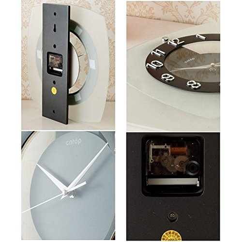 Wall Clock modern Quartz quiet decoration not refined of health in Arab figures-a 12inch by gerewe (Image #5)