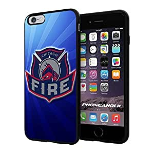 diy zhengSoccer MLS CHICAGO FIRE FC LOGO SOCCER FOOTBALL, Cool Ipod Touch 5 5th Smartphone Case Cover Collector iphone TPU Rubber Case Black